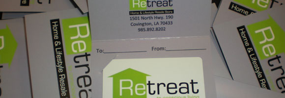 Gift cards available at Retreat